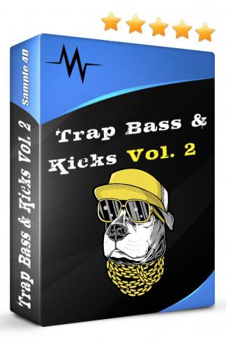 Sample4D Trap Bass and Kicks Vol.2 Drum Kit Music Sound Sample Pack